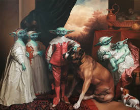 Thierry BRUET - THE YODA'S CHILDREN OIL ON CANVAS 114 CM X 146 CM THIERRY BRUET 2020
