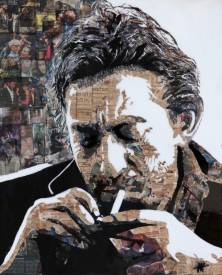 "Jean Jacques VENTURINI - Gainsbourg paper/3 -"" Newspaper'art"""