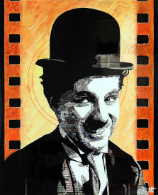 "Jean Jacques VENTURINI - Chaplin Paper.  -"" Newspaper'art"""
